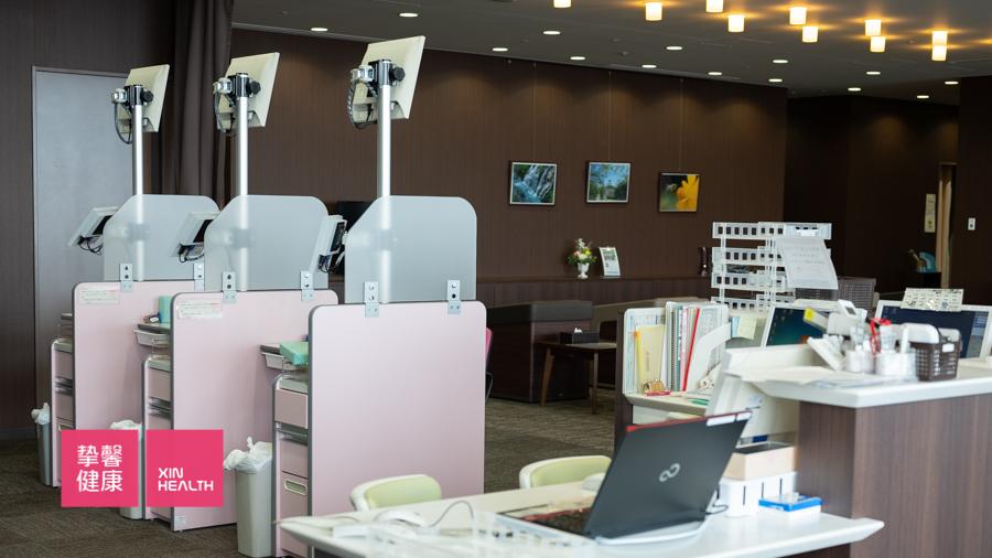 日本高级体检 干净整洁的体检部内部环境