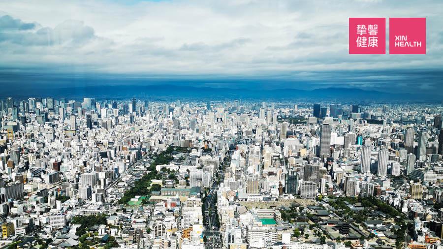 日本高级体检 全面高级2日套餐 入住大阪万豪酒店 窗外景色