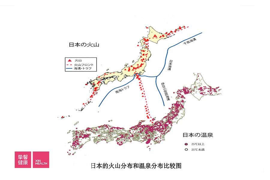 日本火山造就了温泉