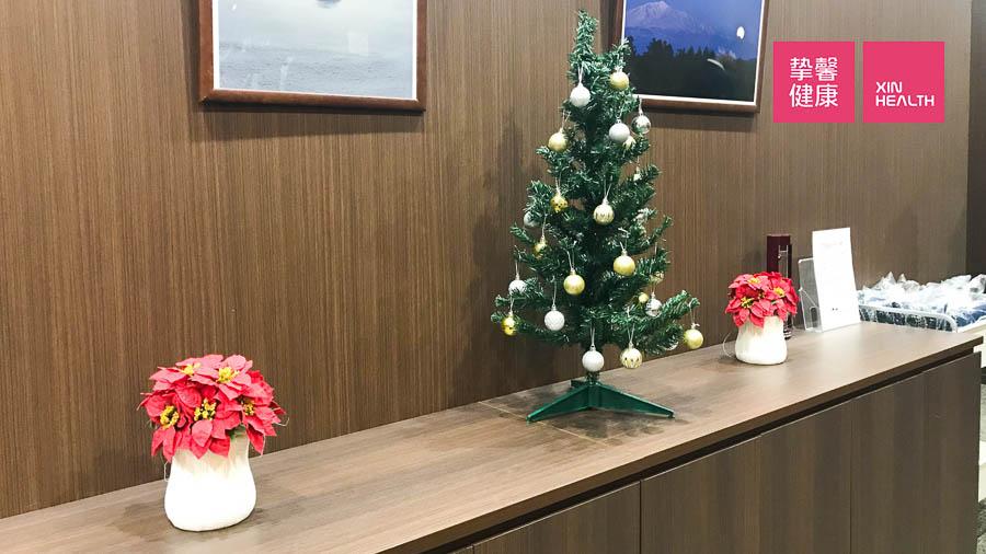 日本高级体检 体检休息区 圣诞装饰