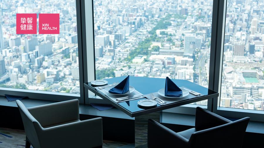 日本高级体检 全面高级2日套餐 万豪绝景餐厅 就餐环境