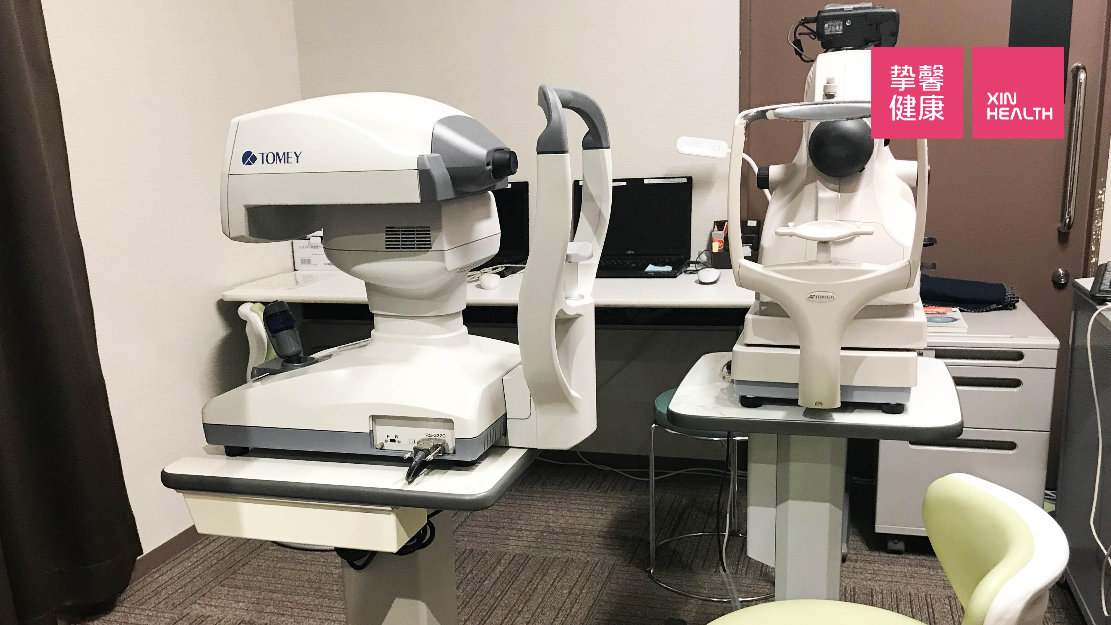 日本高级体检 眼科检查仪器