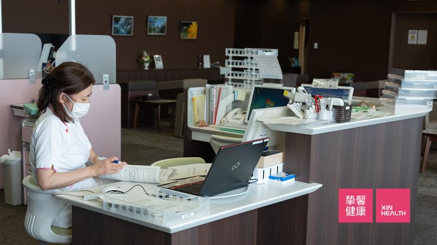 日本高级体检 护士抽血检查区域