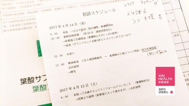 张女士 2017年4月-7月 赴日本大阪